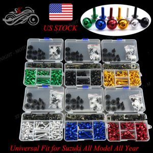 200x Fairing Bolts Kit body screws Clips For Suzuki Hayabusa GSX1300R 2003-2004