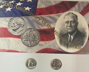 1996-W  Roosevelt Dime  2 Coin Set