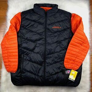 Cincinnati Bengals 3 in 1 Puffer Jacket + Puffer Vest Black Orange G-III NFL 3XL