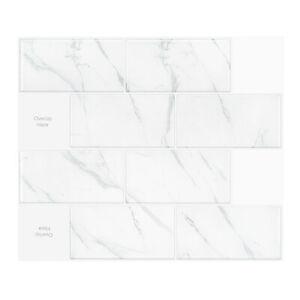 3D Tiles Stickers Peel and Stick DIY_Big Brick Marble_(30cm x 26cm x 5 sheets)