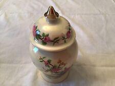 """More details for  vintage  7"""" sadler ginger jar floral & bird design"""