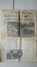 JFK ASSASSINATION DAILY MAIL SAT NOV 23 1963 MEMORABILIA