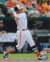 Manny Machado Signed 8x10 Baltimore Orioles Photo - MLB White Swing PSA/DNA