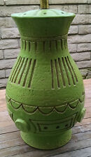 Coco Chanel's Favorite Lime Green Color-Inspired Mid Century Modern Ceramic Lamp