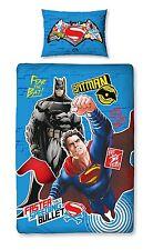 SINGLE BED DUVET COVER SET DC COMICS BATMAN VS SUPERMAN DAWN OF JUSTICE PANEL