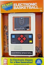 BASKETBALL Handheld Electronic Game 70's Retro Mattel Classic Sounds Lights NEW
