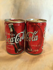 Two Coca Cola UK 150 ml Cans Sealed