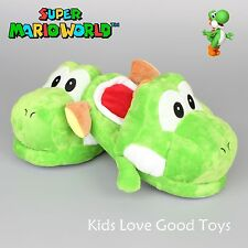 Nintendo Super Mario Brothers Yoshi Plush Slipper Home Warm Adult Shoes Green