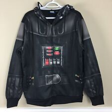 Star Wars Darth Vader Full Zip Up Hoodie Mask Costume Sz M
