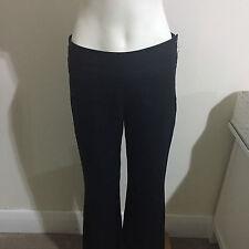 Events Navy Linen Hemp Pants Wide Waistband Leg Cotton Blue Suit Trouser Slacks