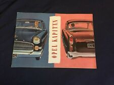 1950s Opel Kapitan  German Market Color Brochure Catalog Prospekt