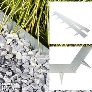 Rasenkante Metall Beeteinfassung Beetumrandung Verzinkt ab 5M (€10,99/m) 1,5mm