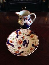 Beautiful Antique Listre Jug And Plate - Handpainted