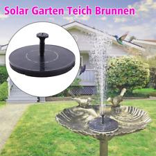 Solarpumpe Mit Akku Springbrunnen Garten Teich Brunnen Teichpumpe Wasserspiel DE