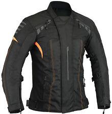Orange Motorbike Protection Jacket Waterproof Removable Thermal M