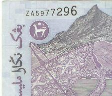 Zeti  banknote rm1  Replacement prefix  ZA5977296 ! very nice