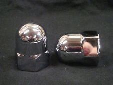 2 NEW AMEN SAVIOR CHROME ACORN CROWN NUTS REAR PLUNGER SUSPENSION TOP BOTTOM