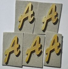 5 pieces of Capitalize A in Gold Mop 14.2mm x 17mm x 1.5mm thickness.