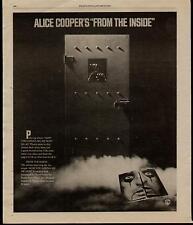 "1979 ALICE COOPER ""FROM THE INSIDE"" ALBUM PROMO AD"