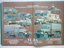 1984 PUB ALM ACMAT SAINT NAZAIRE CAMION TRUCK VLRA 6X6 ARMEE FRENCH AD