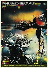 Empire Strikes Back POSTER Polish RARE Image Star Wars Sci Fi Classic