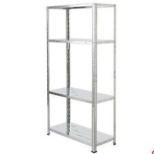 New 4 Tier Metal Shelving Unit Display Book  Shelf  Furniture 137 x 71 x 30cm