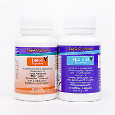 VLC Weight Loss Diet 50 Day Soft-Gel Caps & Detox Refill Pack Eagle Supreme