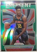 19-20 Panini Prizm Emergent De'Andre Hunter #9 Green Refractor Basketball Card