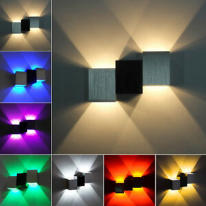 Up/Down 2W LED Wall Sconce Light Dimmable/N Lamp Fixture Stair Lighting Shop
