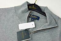 $108 Brooks Brothers Mens Gray Supima Cotton 1/4 Zip Sweater Size XL