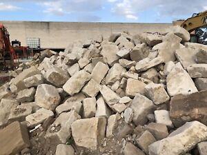 Sandstone blocks great for decorative retaining walls