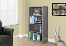 """Monarch Specialities Bookcase - 48""""H / Dark Taupe With Adjustable Shelves"""