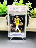 2019-20 Panini Prizm LEBRON JAMES #129 Los Angeles Lakers PSA 10 Gem Mint 📈🔥