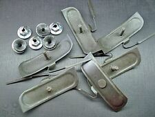 6 pcs body belt hood moulding trim clips & nuts mastic sealer 410 GM NOS 573099