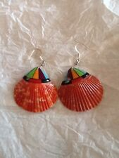 EARRINGS SPINY OYSTER MULTI-STONE MOSAIC