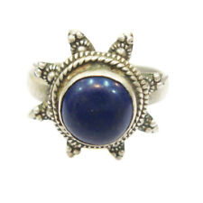 Antique Old Silver Lapis Lazuli Vintage Look Ethnic Statement Ring For GIFT