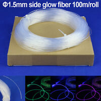 1.5mm Side Glow PMMA Fiber Optic Cable100m/roll Decorative Car and home Lights