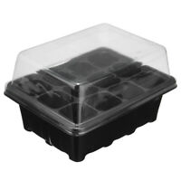 12 Cell Seedling Starter Tray Box Seed Germination Plant Propagation Kit  Health