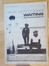FUN BOY THREE 3 Waiting TOUR 1983 PRESS ADVERT COMPLET PAGE 39 x 28 cm AFFICHE