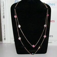 """VERA BRADLEY FLUTTERBY 32"""" DAINTY CHAIN LAYERED GOLD TONE NECKLACE NWT!"""