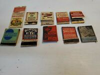 A Lot Of 10 Cigar/Cigarette And Match Company Advertising