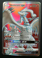 Pokemon card Reshiram GX 65/70 Full Art HOLO Basic RARE Fire Mint PROXY CARD