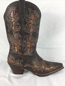 """Ariat Dandy 12"""" Cowboy Boots Women's Size 8.5 B Sassy Brown Leather 10007964 EUC"""