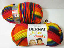 2 Skeins Bernat Softee Chunky Acrylic Yarn Color School Yard # 29134 Lot 2