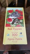 Red Poppies BY Avril Hayes Puzzle New Sealed 300 Piece