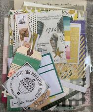 Lot 9 Collage Ephemera Collage Junk Journal Art Tissue Paper Tape Napkins Book