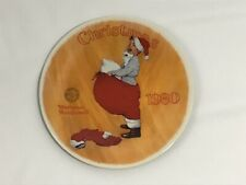 "Norman Rockwell 1980 ""Scotty Plays Santa� Plate"