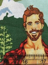 The Outdoorsey Type Hunky Men Alexander Henry  6876 A Outdoors - Cotton Fabric