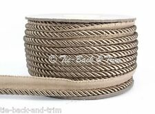 10 Metres of 7020 Silky 6mm Flanged Rope Piping Upholstery Insertion Cord 419 LT Brown (taupe)