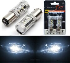 LED Light 50W 2357 White 5000K Two Bulbs Front Turn Signal Replace Upgrade Stock